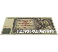 Bankovka Milion kčs - čokoláda mléčná 60g