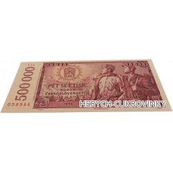 Bankovka Pět set tisíc kčs - čokolády 60g