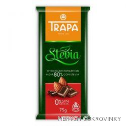 Trapa čokoláda Stévia hořká 75g