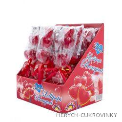 Lízátko srdce Bouquet 50g / 12ks