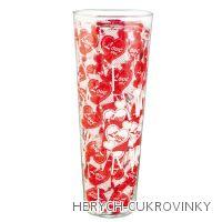 Lízátko červené srdíčko 8g váza - 150Ks balení