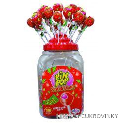 Lízátko Pin pop strawberry  / 100 Ks