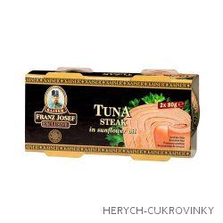 FJK Tuňák steak ve slunečnicovém oleji 2x80g