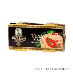 FJK Tuňák steak v pikantním oleji 2x80g