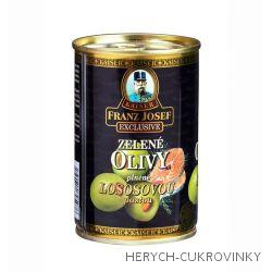 FJK Zelené olivy plněné lososovou pastou 300g