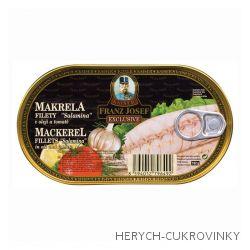 FJK Makrela filety Salamina v oleji a tomatě 170 g