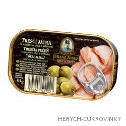 FJK Tresčí játra ve vlastním oleji s olivou 115g