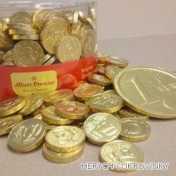 Mince čok.zlaté  1Kg / 50 cent