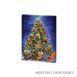 Adventní kalendář stromek s medvídky 50g