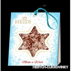 Heidi Star mini christmas 15g - hořká s kokosem
