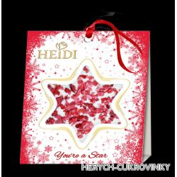 Heidi Star mini christmas 15g - bílá s brusinkou