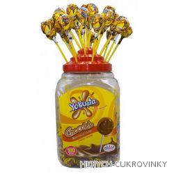 Lízátko Pin Pop čokoláda  / 100 Ks