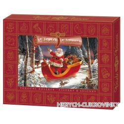 Vánoční čok. kolekce Červená - Santa claus  400g