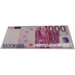 Bankovka Tisíc euro - čokolády 60g