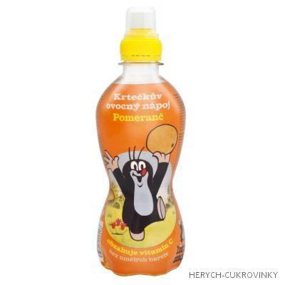 Krtečkův ovocný nápoj pomeranč 330ml / 10Ks