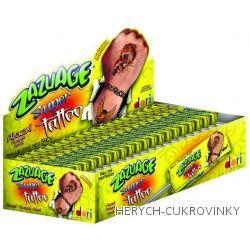 Zazuage lízátko s tetováním ananasové 10,8g / 50Ks