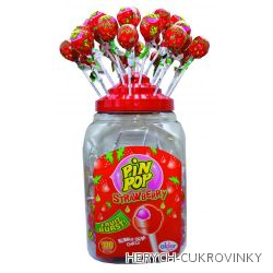 Lízátko Pin pop strawberry  / 100 Ks