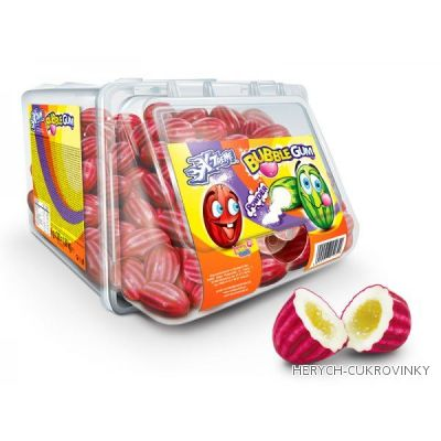 Žvýkačky jahody červené volné / 300Ks balení