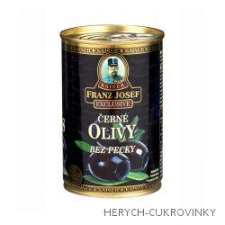 FJK Černé olivy bez pecky 314g