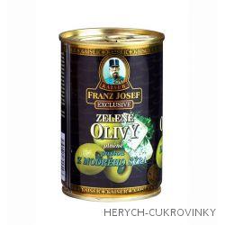FJK Zelené olivy plněné pastou z modrého sýra 300g