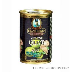 FJK Zelené olivy plněné tuňákovou pastou 300g