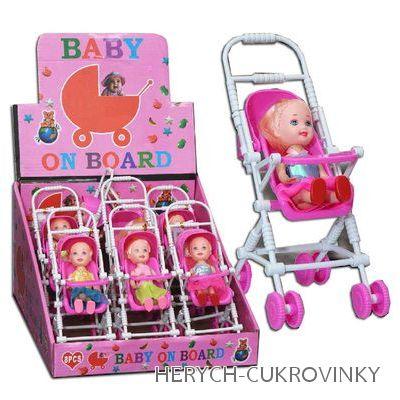 Kočárek Baby on board 4g / 9ks balení