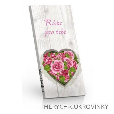 Růže pro tebe čokoláda ml. 100g
