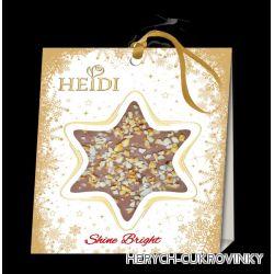 Heidi Star mini christmas 15g - mléčná s ořechy