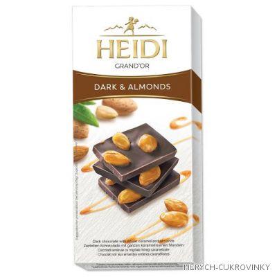 Heidi Grand´Or almonds čok. dark 100g