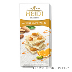 Heidi Grand´Or almonds,pistachio čok. white 100g