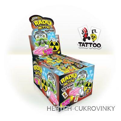 JB žvýk. s tetováním Radio active / 200 Ks