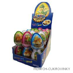 Dinosaurus egg plast - 24 ks