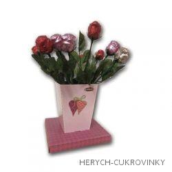 Čokoládová růže ve váze ml. čok. 20g