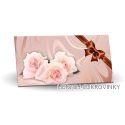Maxi obálka růže s bronz. mašlí 175g