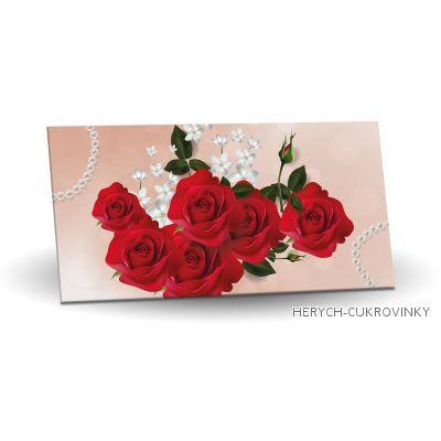 Maxi obálka Červená růže 175g