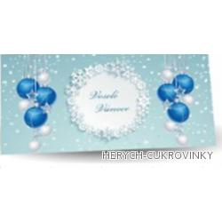 Maxi obálka Veselé Vánoce sv. modrá 175g