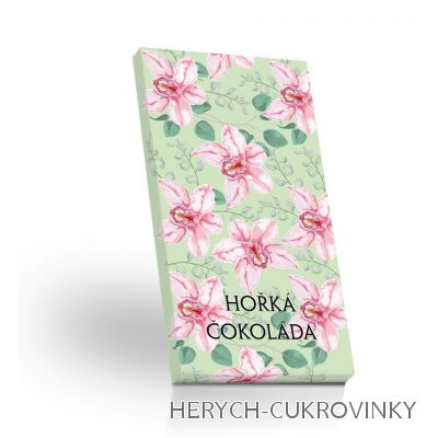 Hořká čokoláda 50g - Orchidej