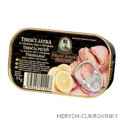 FJK Tresčí játra ve vlastním oleji s citronem 115g