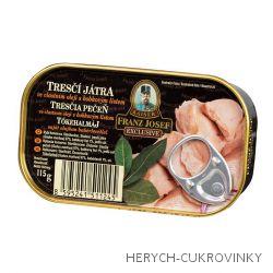 FJK Tresčí játra ve vlastním oleji s bobkovým listem 115g