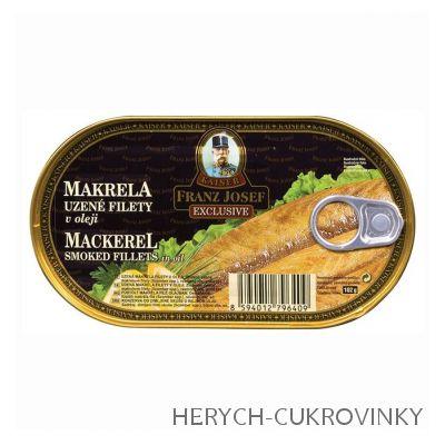 FJK Makrela filety uzené v oleji 170 g