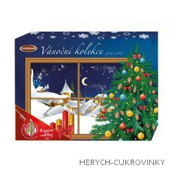 Vánoční čok. kolekce Modrá - zasněžená chalupa  400g